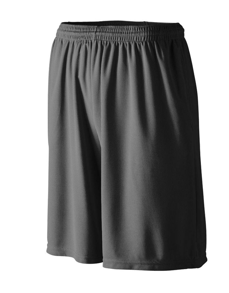 Augusta 814 Longer Length Wicking Short W/ Pockets - Youth - Black - HIT A Double
