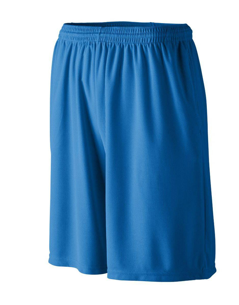 Augusta 814 Longer Length Wicking Short W/ Pockets - Youth - Royal