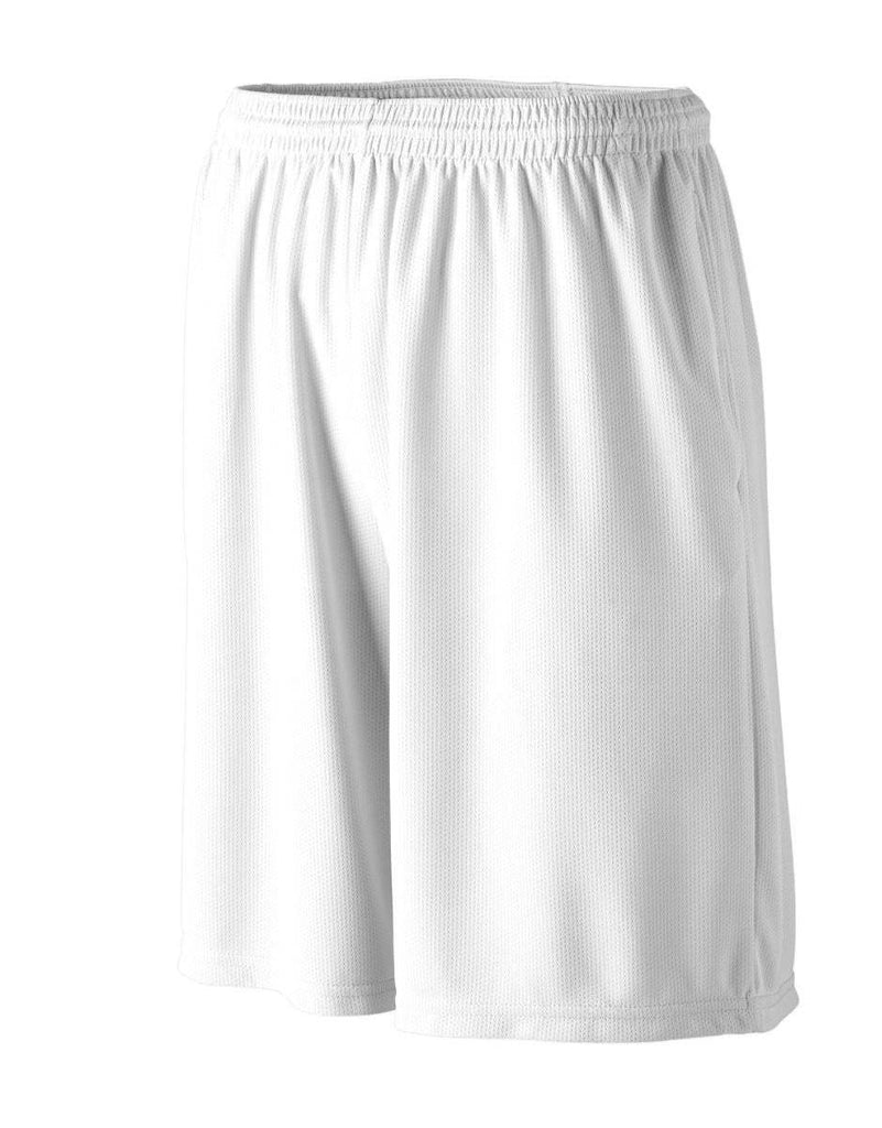 Augusta 814 Longer Length Wicking Short W/ Pockets - Youth - White - HIT A Double