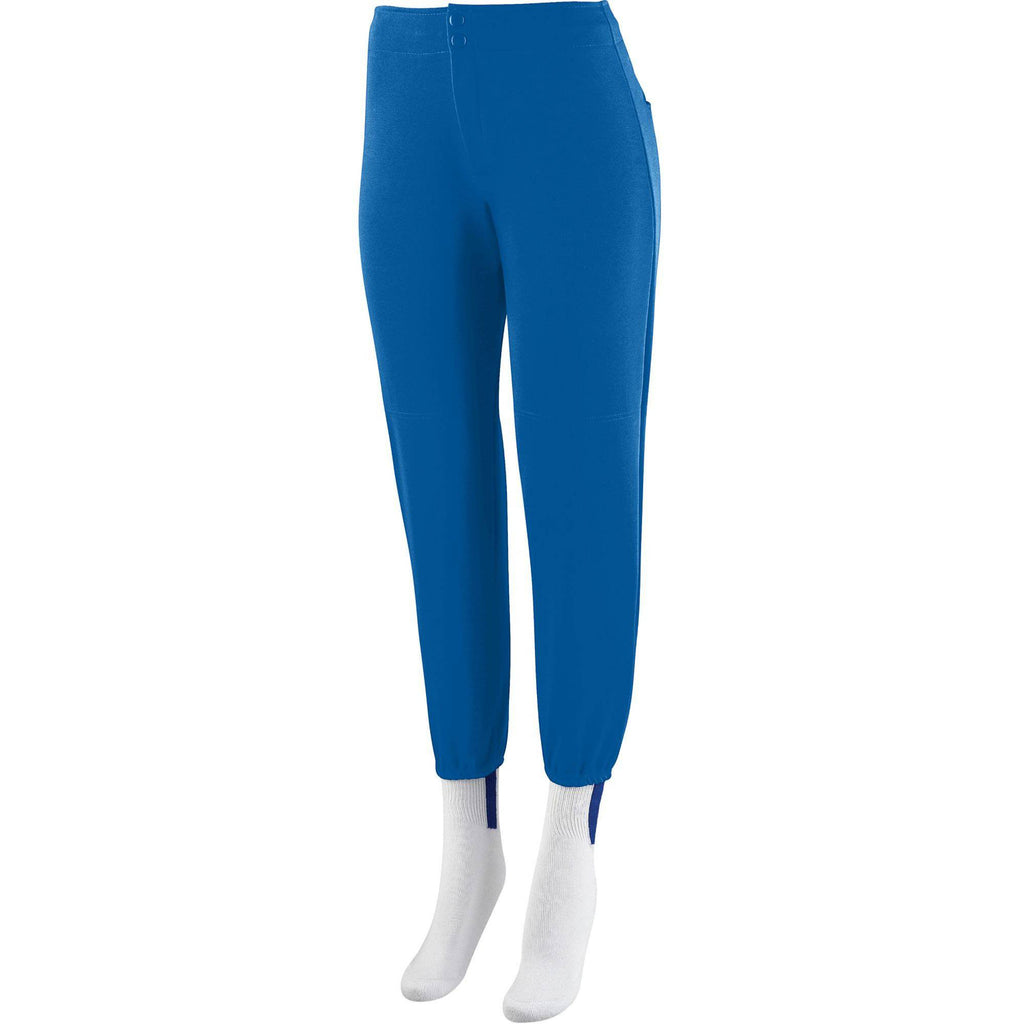 Augusta 828 Ladies Low Rise Softball Pant - Royal - HIT A Double