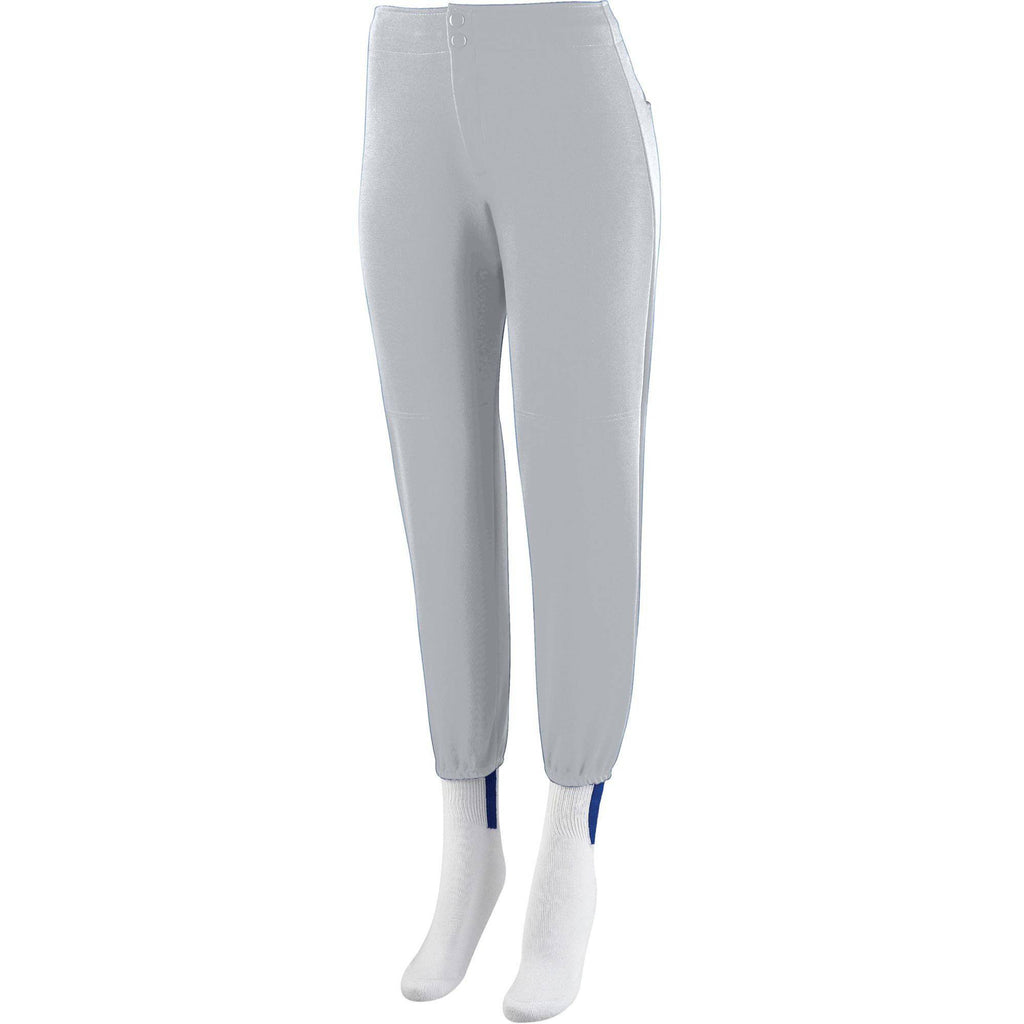 Augusta 829 Girls Low Rise Softball Pant - Silver Gray - HIT A Double