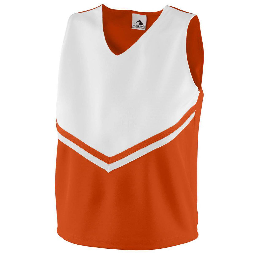 Augusta 9111 Girls Pride Shell - Orange White - HIT A Double