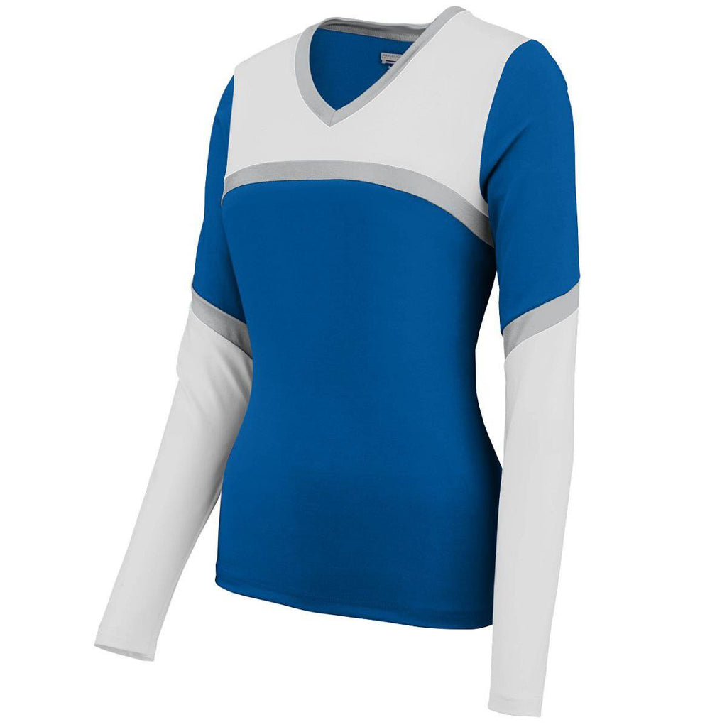 Augusta 9210 Ladies Cheerflex Rise Up Shell - Royal White Silver - HIT A Double
