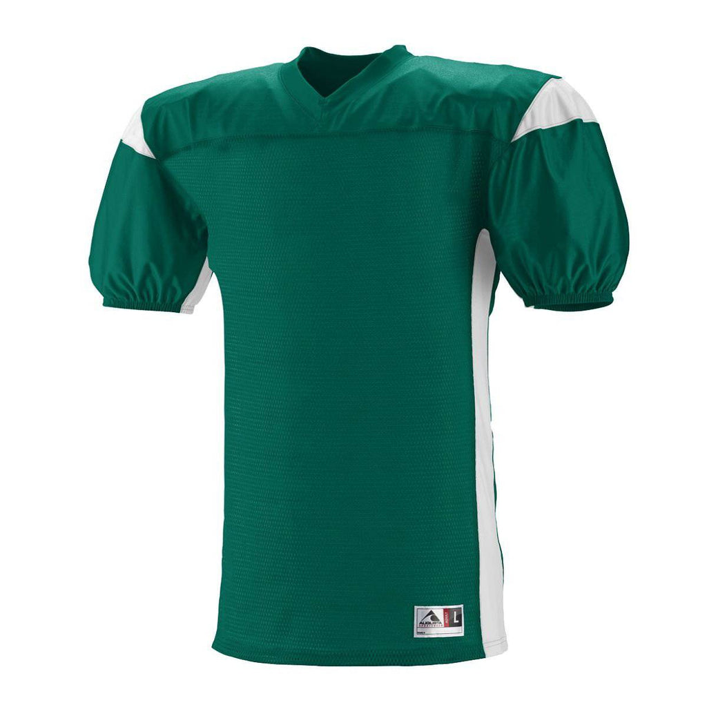 Augusta 9520 Dominator Jersey - Dark Green White - HIT A Double