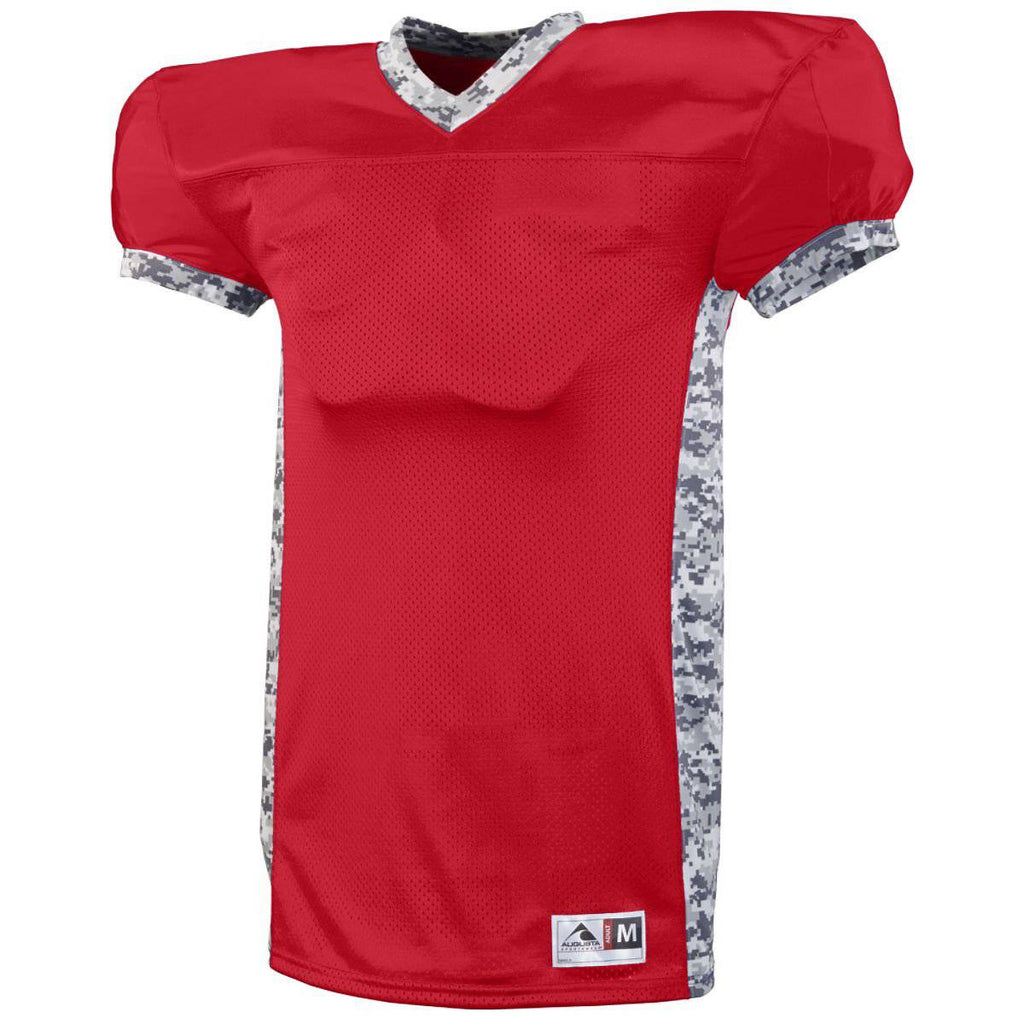 Augusta 9550 Dual Threat Jersey - Red White Camo - HIT A Double