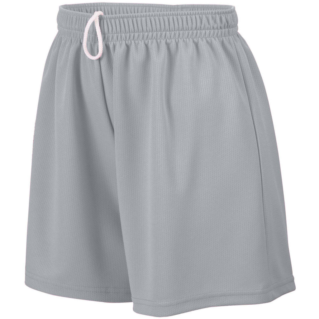 Augusta 960 Ladies Wicking Mesh Short - Silver Grey - HIT A Double