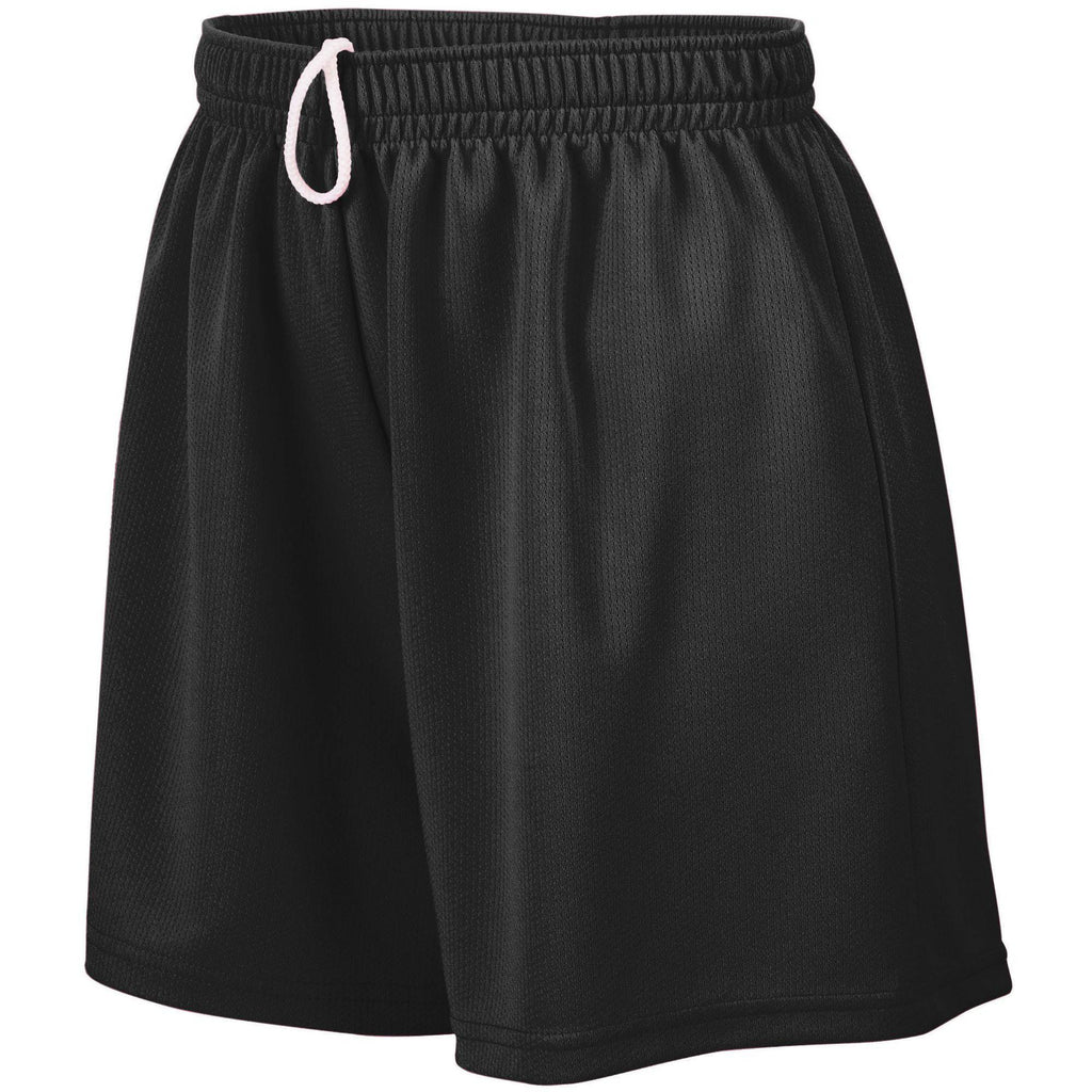 Augusta 961 Girls Wicking Mesh Short - Black - HIT A Double