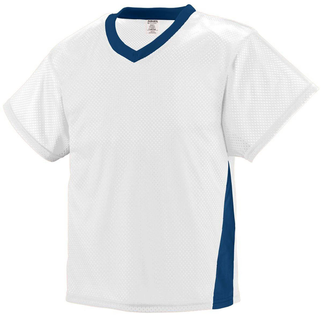 Augusta 9725 High Score Jersey - White Navy - HIT A Double