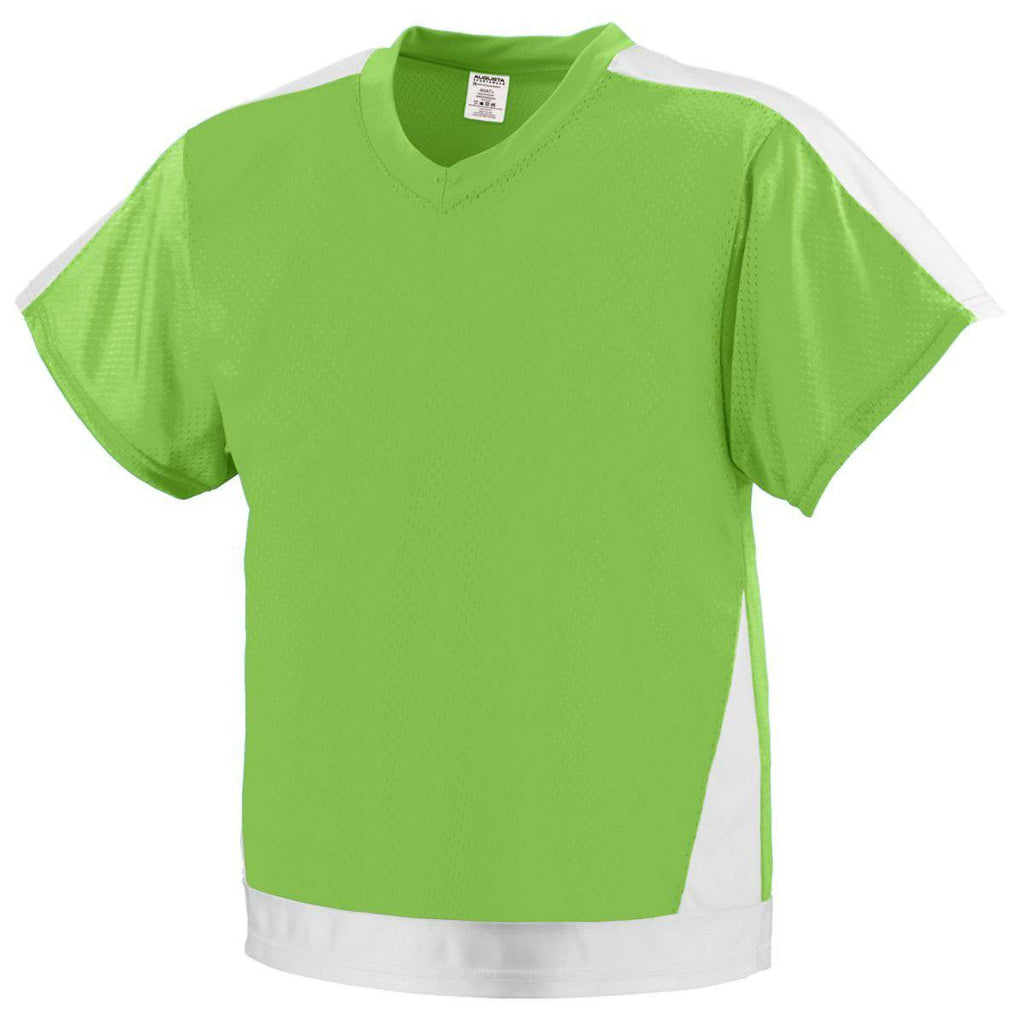 Augusta 9730 Winning Score Jersey - Lime White - HIT A Double