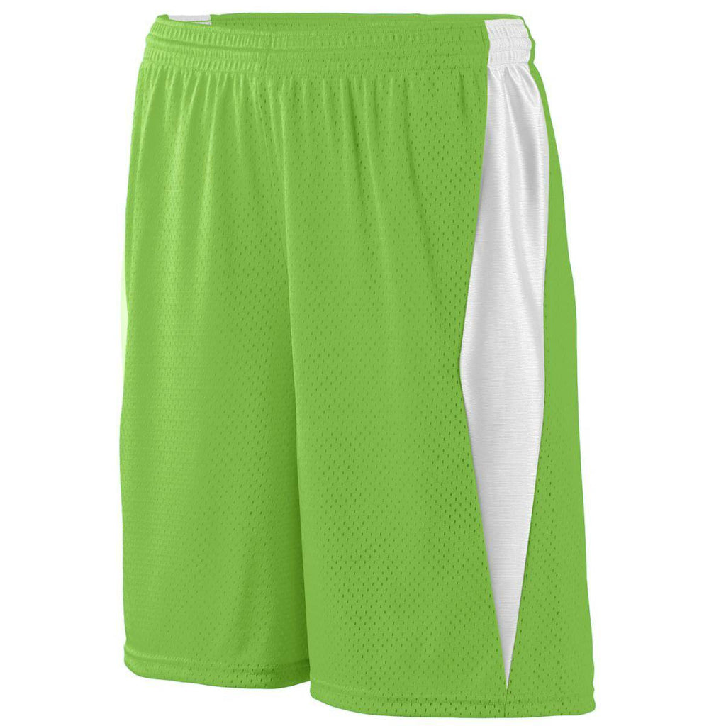 Augusta 9736 Top Score Short Youth - Lime White - HIT A Double
