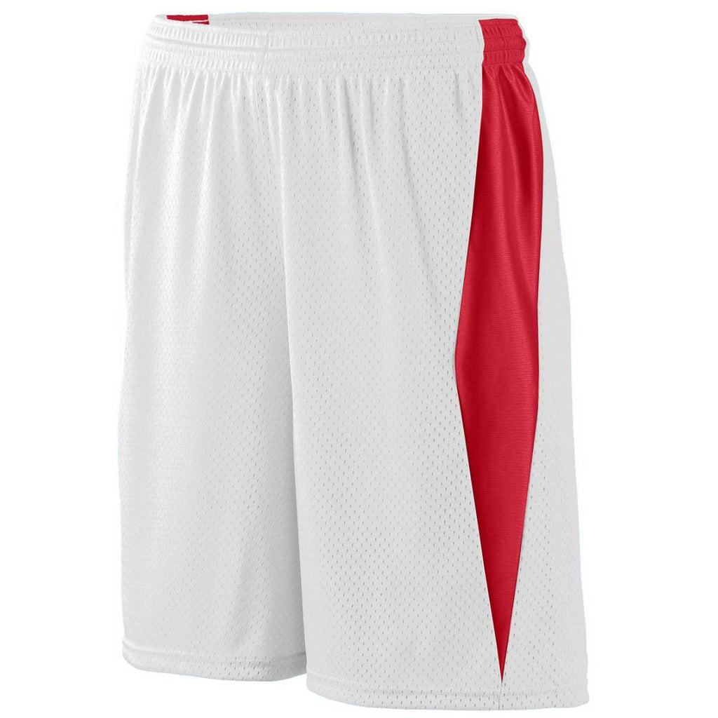 Augusta 9736 Top Score Short Youth - White Red - HIT A Double