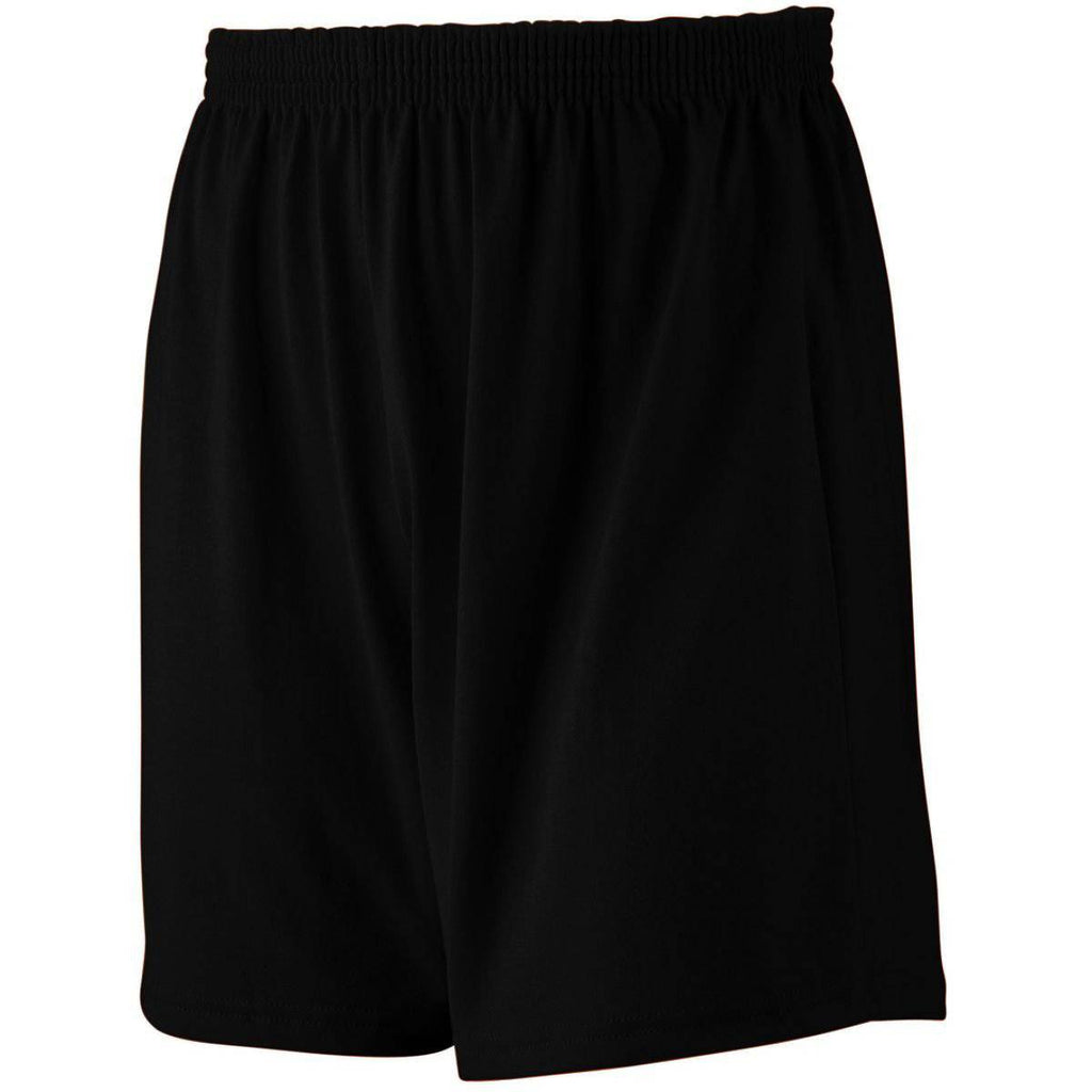 Augusta 991 Jersey Knit Short-Youth - Black - HIT A Double