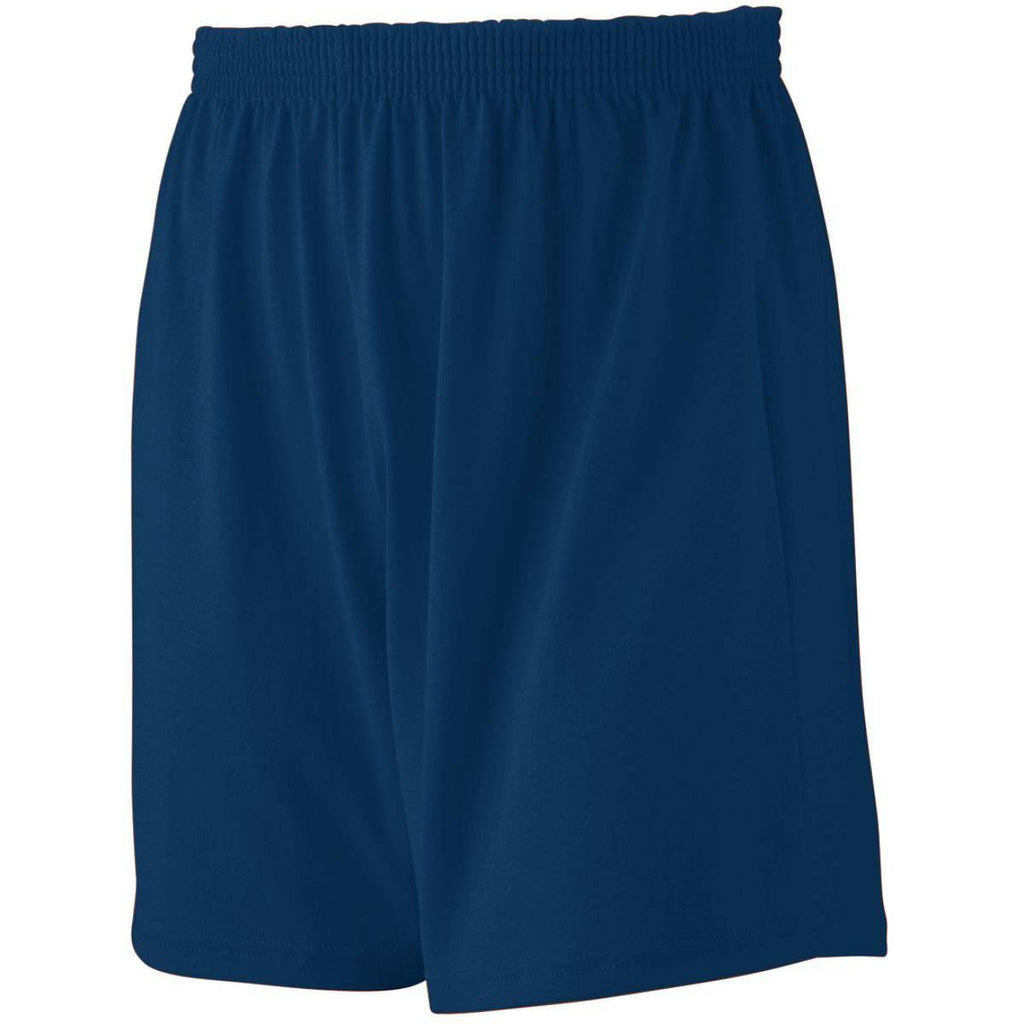 Augusta 991 Jersey Knit Short-Youth - Navy - HIT A Double