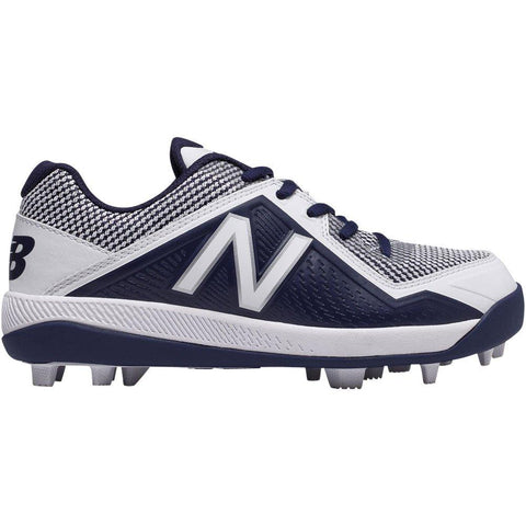 New Balance Youth J4040v4 Molded Baseball Cleats - Navy White