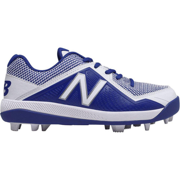 New Balance Youth J4040v4 Molded Baseball Cleats - Royal White