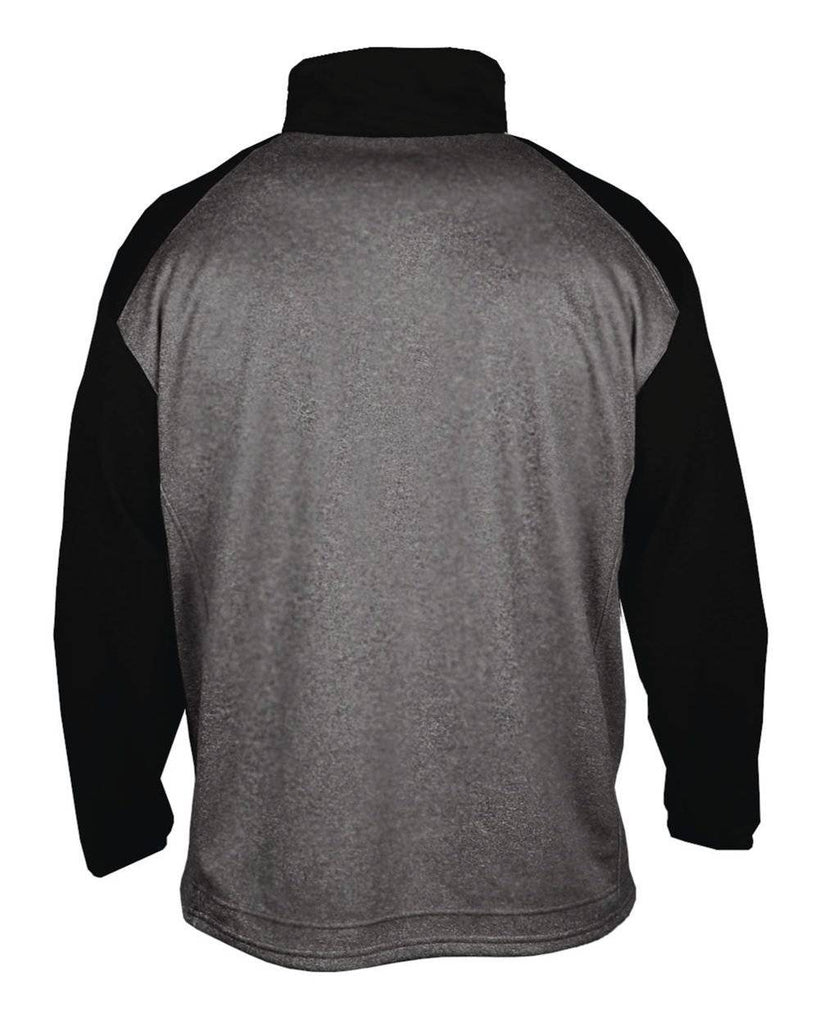 Badger 1485 Sport Heather Tonal 1/4 Zip - Carbon Heather Black - HIT A Double
