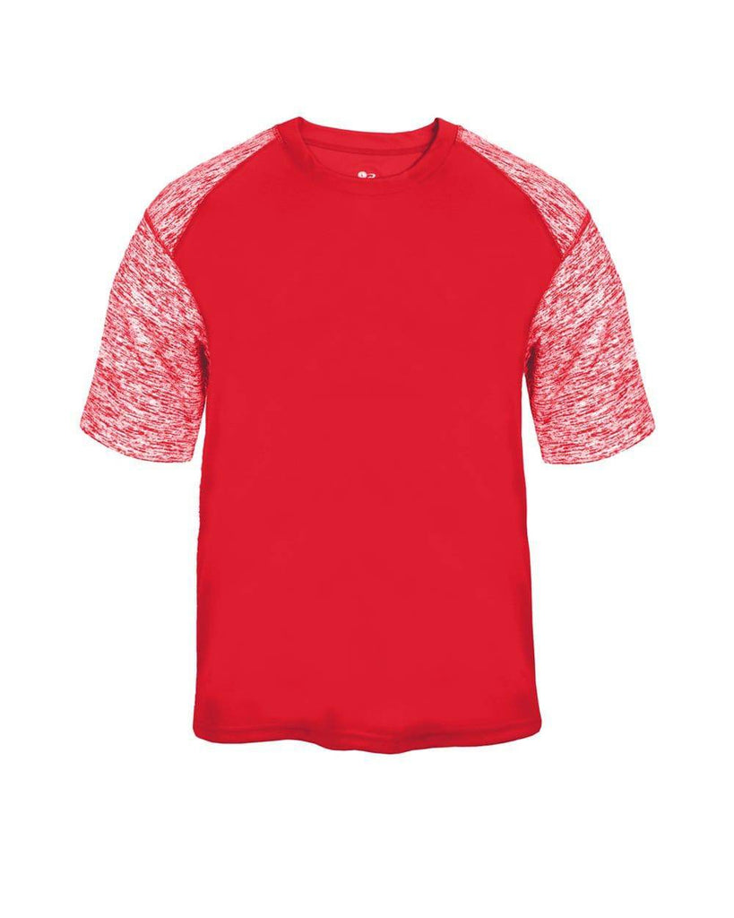 Badger 2151 Sport Blend Youth Tee - Red Red Blend - HIT A Double