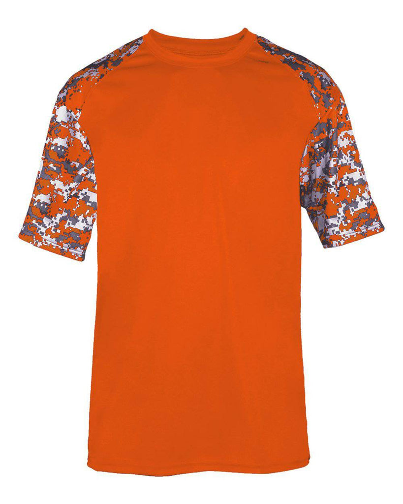 Badger 2152 Sport Digital Youth Tee - Orange Burnt Org Digital