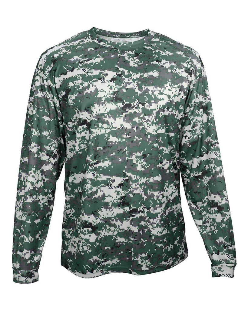 Badger 2184 Digital Youth Long Sleeve Tee - Forest Camo - HIT A Double