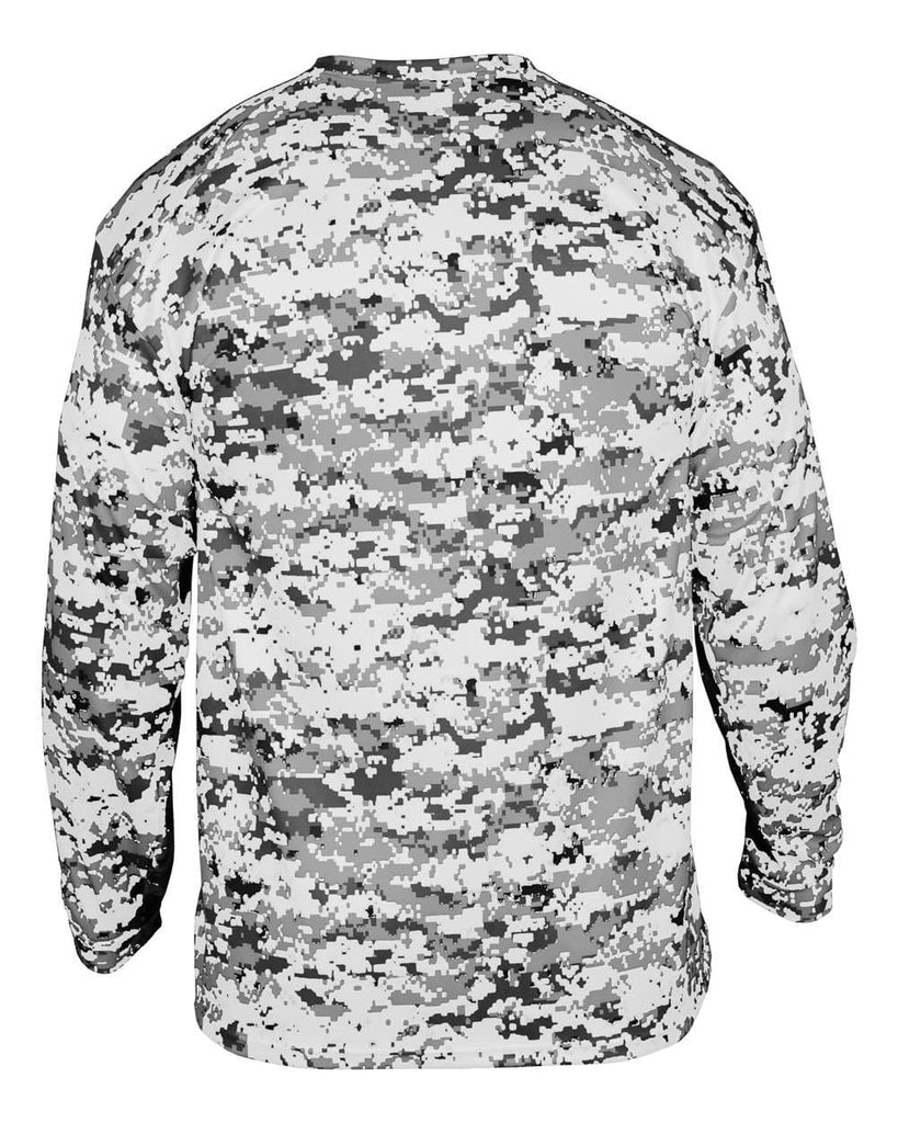 Badger 2184 Digital Youth Long Sleeve Tee - White Camo - HIT A Double