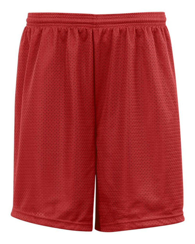 Badger 2207 Youth Mesh/Tricot Short - Red - HIT A Double