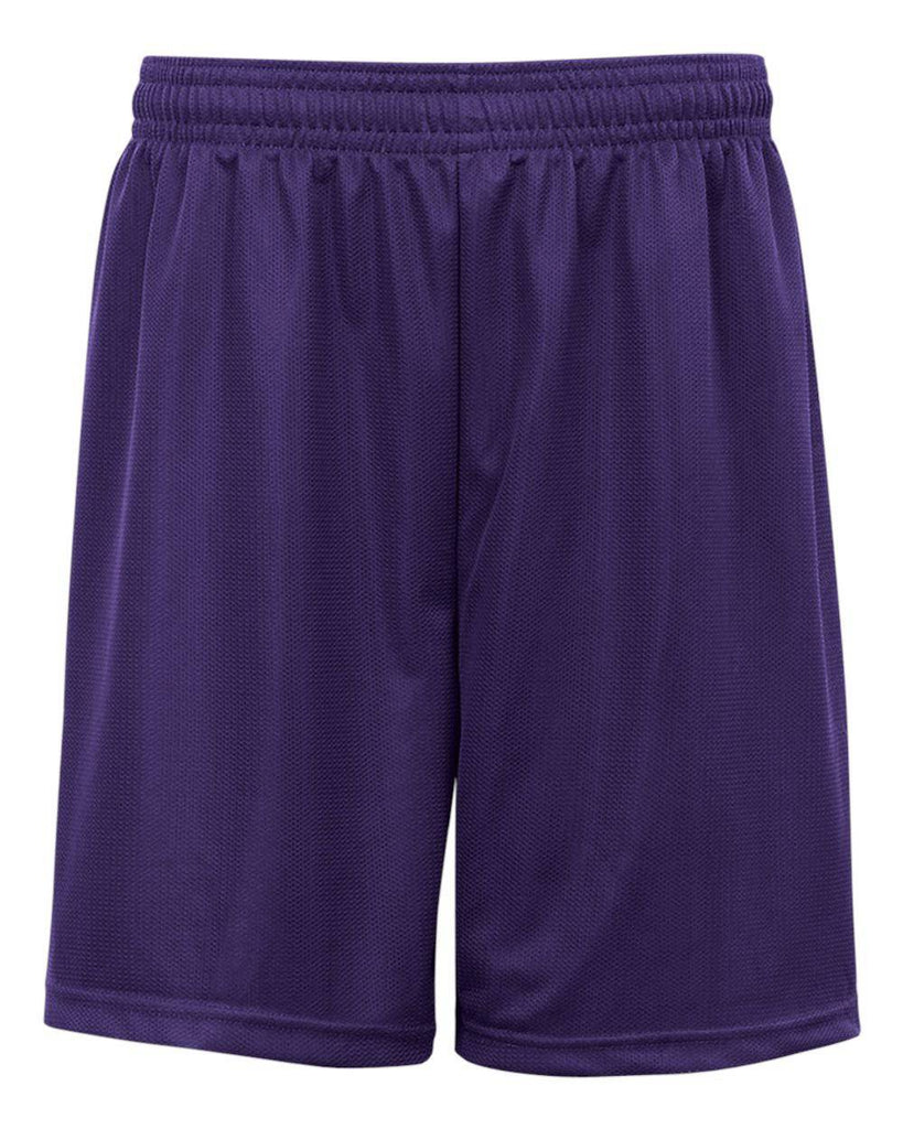 Badger 2237 Youth. Mini Mesh Short - Purple - HIT A Double