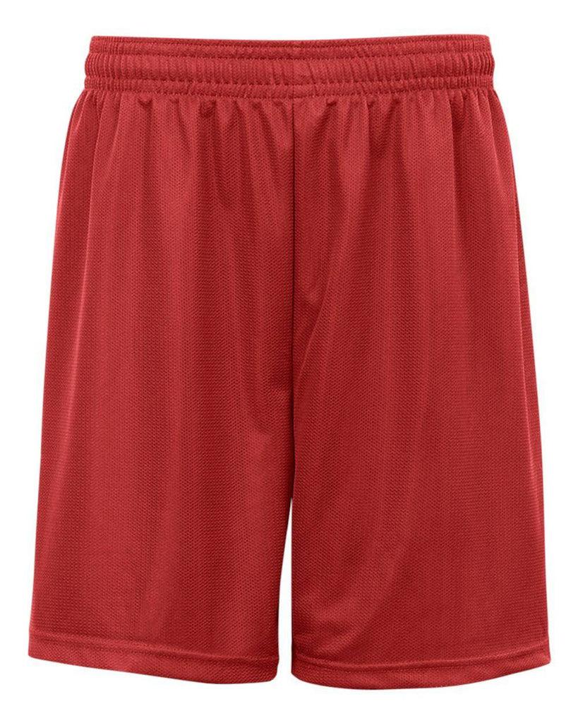 Badger 2237 Youth. Mini Mesh Short - Red - HIT A Double