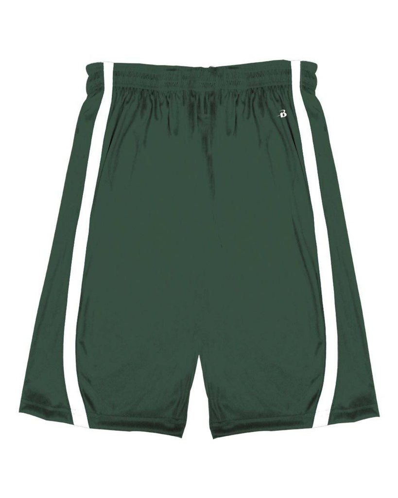 Badger 2244 B-Slam Youth Reversible Short - Forest White - HIT A Double