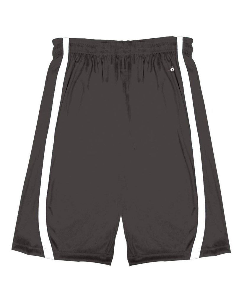 Badger 2244 B-Slam Youth Reversible Short - Graphite White - HIT A Double