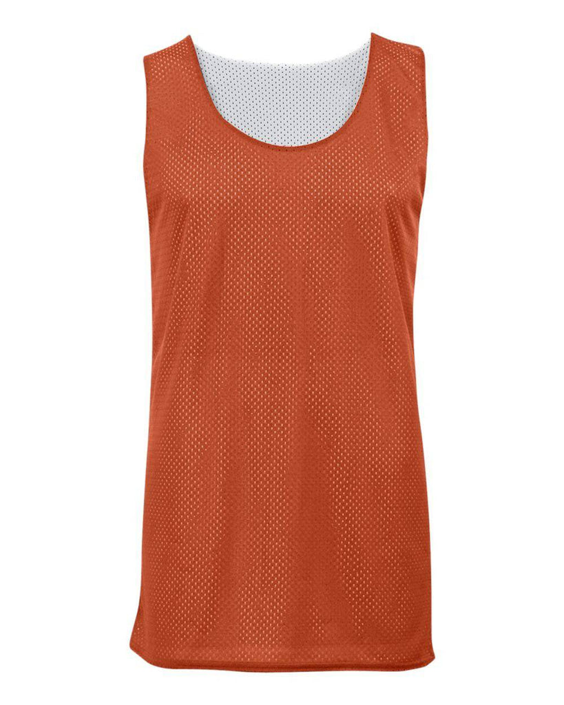 Badger 2529 Youth Mesh Reversible Tank - Orange White - HIT A Double