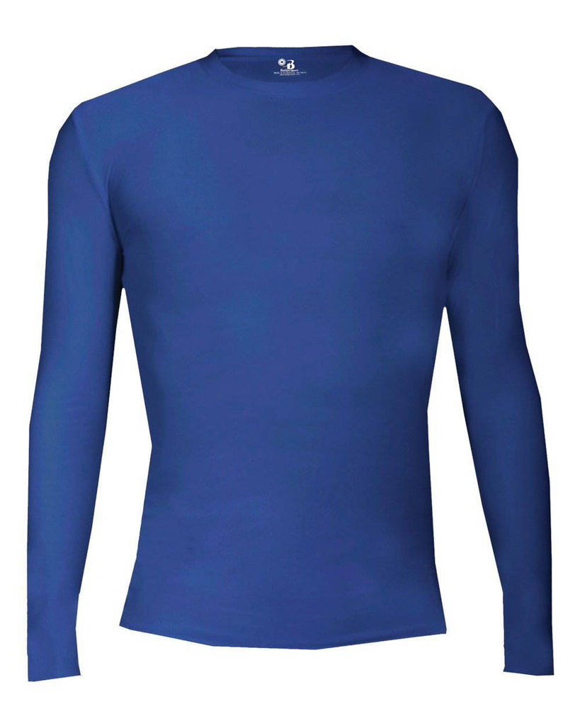 Badger 2605 Pro-compression Long Sleeve Youth Crew - Royal - HIT A Double