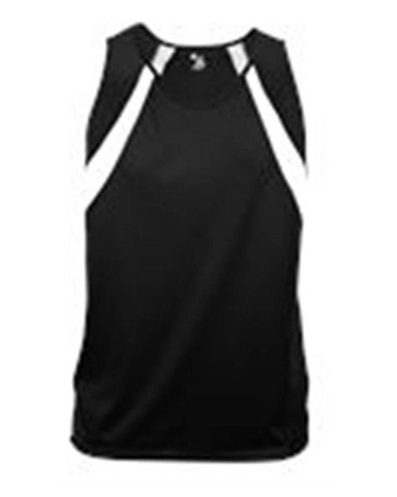 Badger 2661 Aero Youth Singlet - Black White - HIT A Double