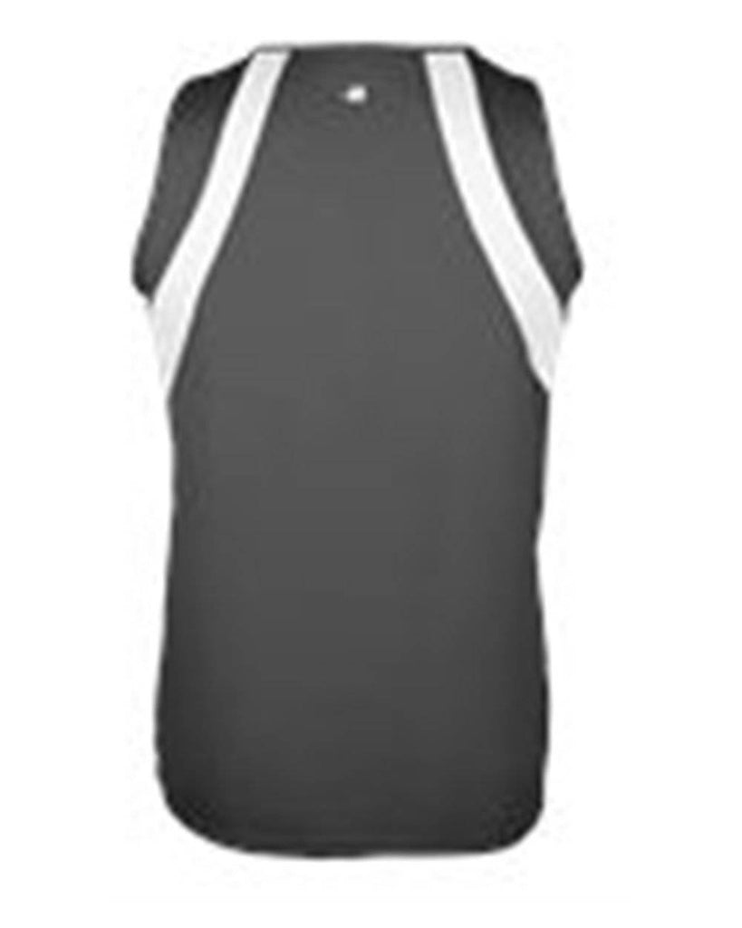 Badger 2661 Aero Youth Singlet - Graphite White - HIT A Double