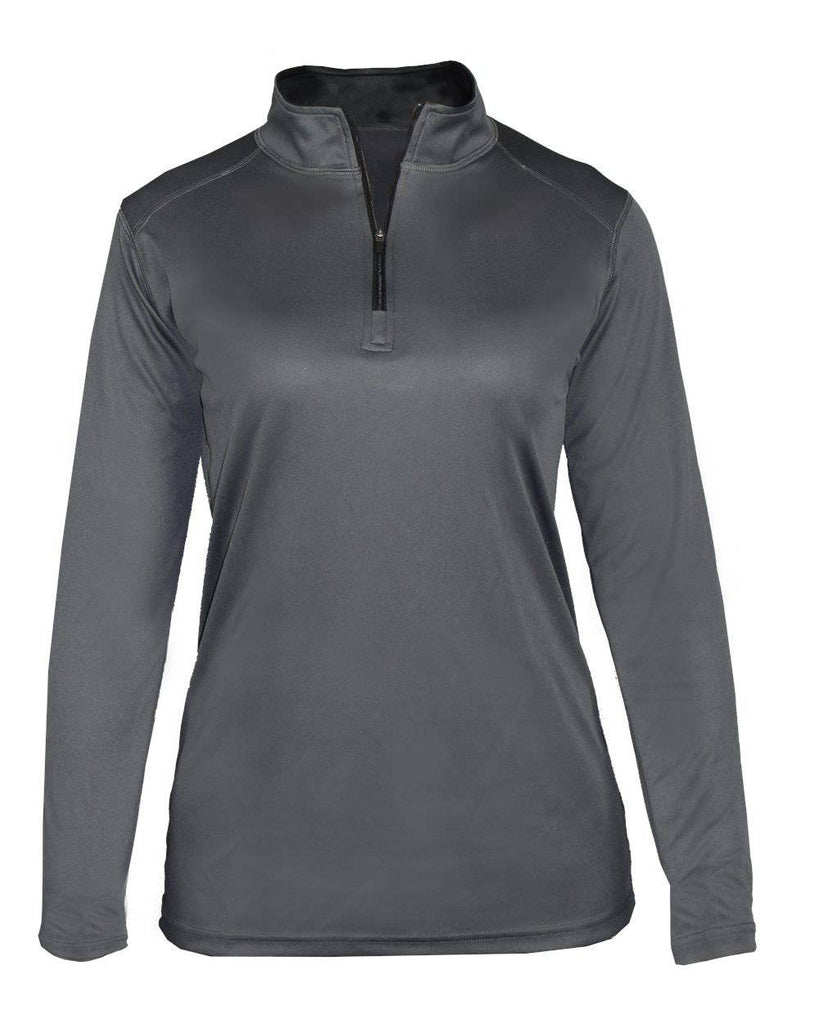 Badger 4103 B-Core Ladies 1/4 Zip - Graphite Black - HIT A Double