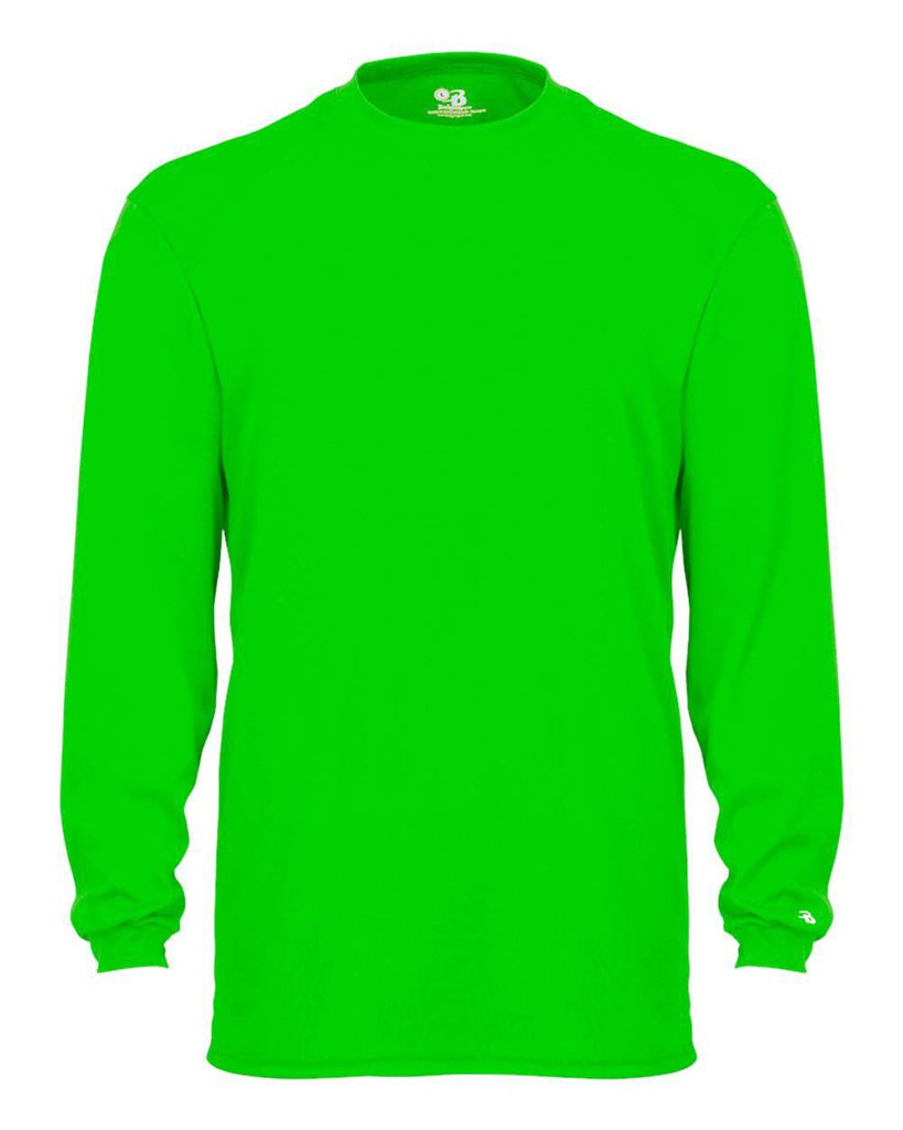 Badger 4104 B-Core Long Sleeve Tee - Lime - HIT A Double