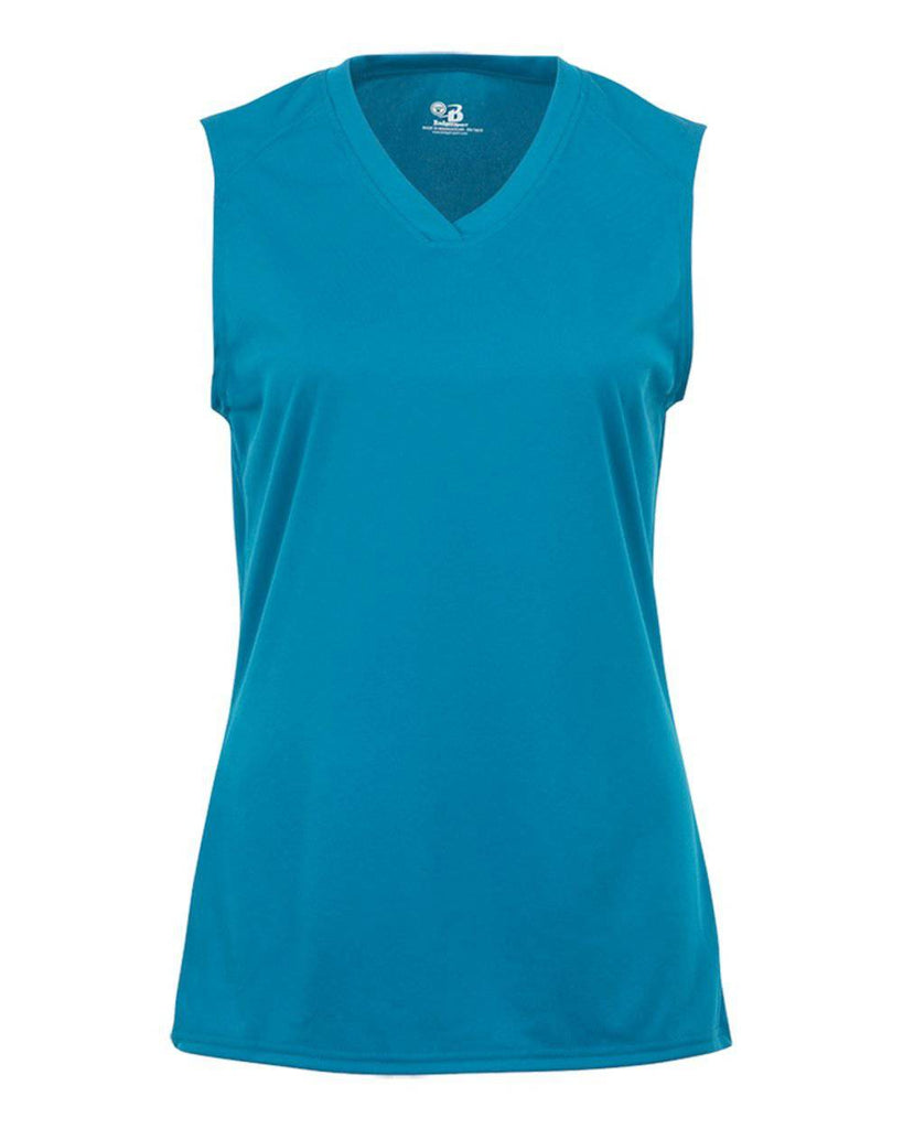 Badger 4163 Ladies B-Core Sleeveless Tee - Blue - HIT A Double