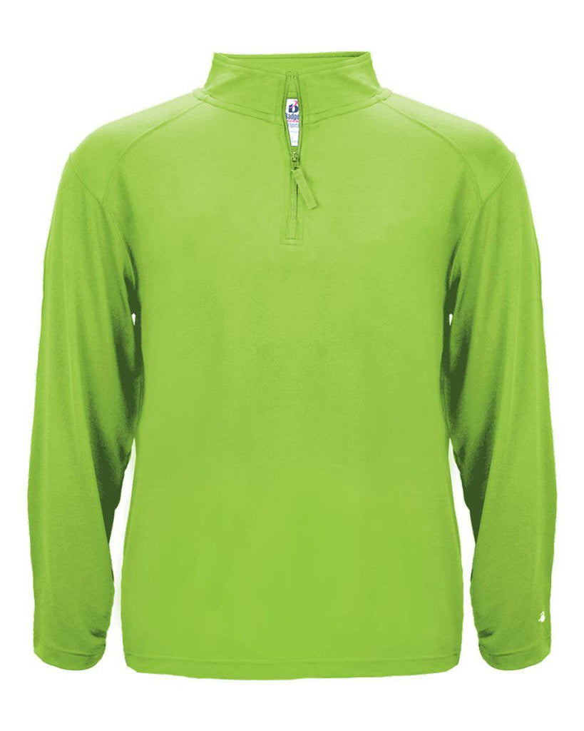 Badger 4280 1/4 Zip Light Weight Pullover - Lime
