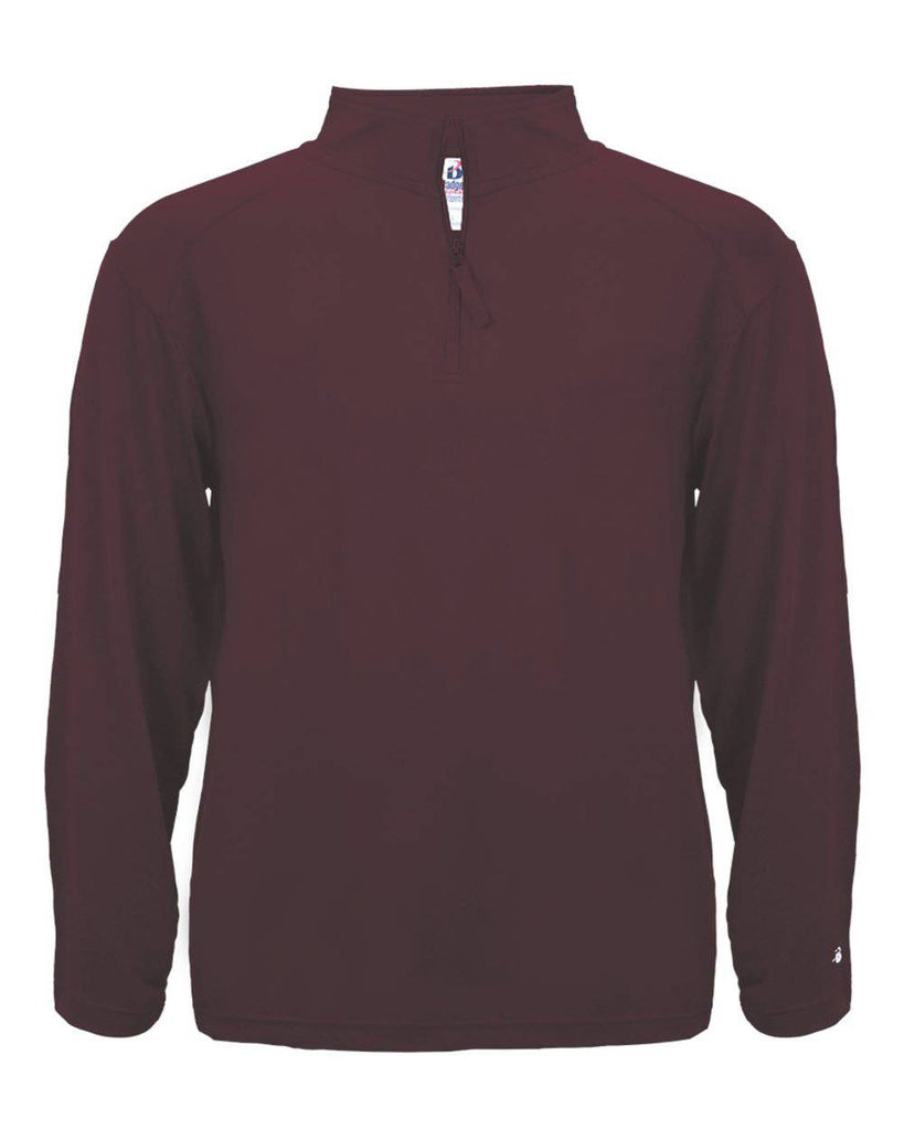 Badger 4280 1/4 Zip Light Weight Pullover - Maroon - HIT A Double