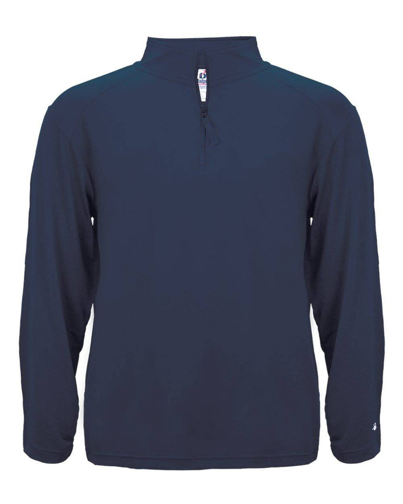 Badger 4280 1/4 Zip Light Weight Pullover - Navy - HIT A Double