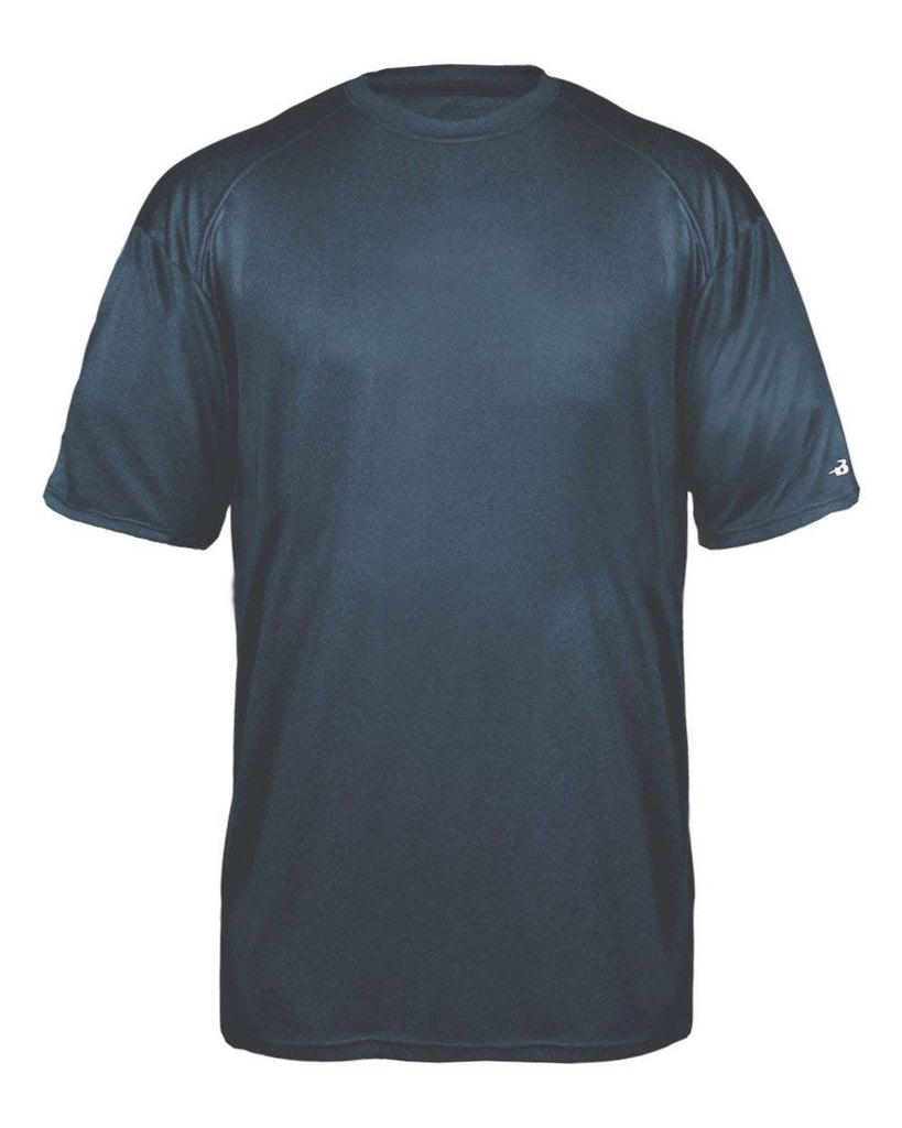 Badger 4320 Pro Heather Tee - Navy - HIT A Double