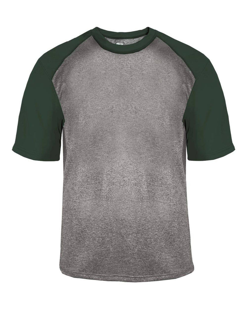 Badger 4341 Sport Heather Tee - Steel Heather Forest - HIT A Double