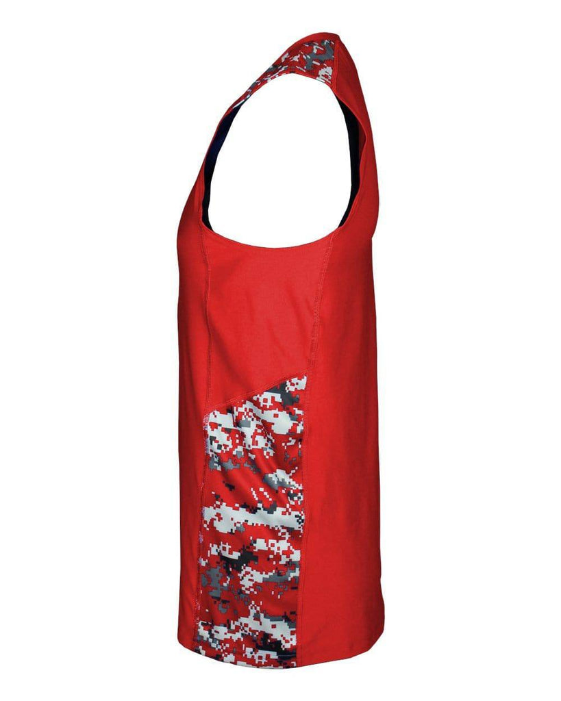 Badger 4532 Digital Sleeveless Tight Tee - Red Red Camo - HIT A Double