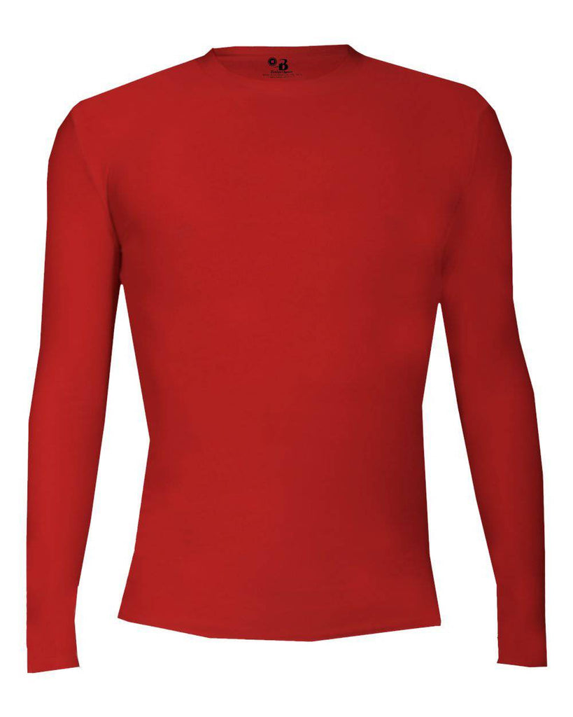 Badger 4605 Pro-Compression Long Sleeve Crew - Red - HIT A Double