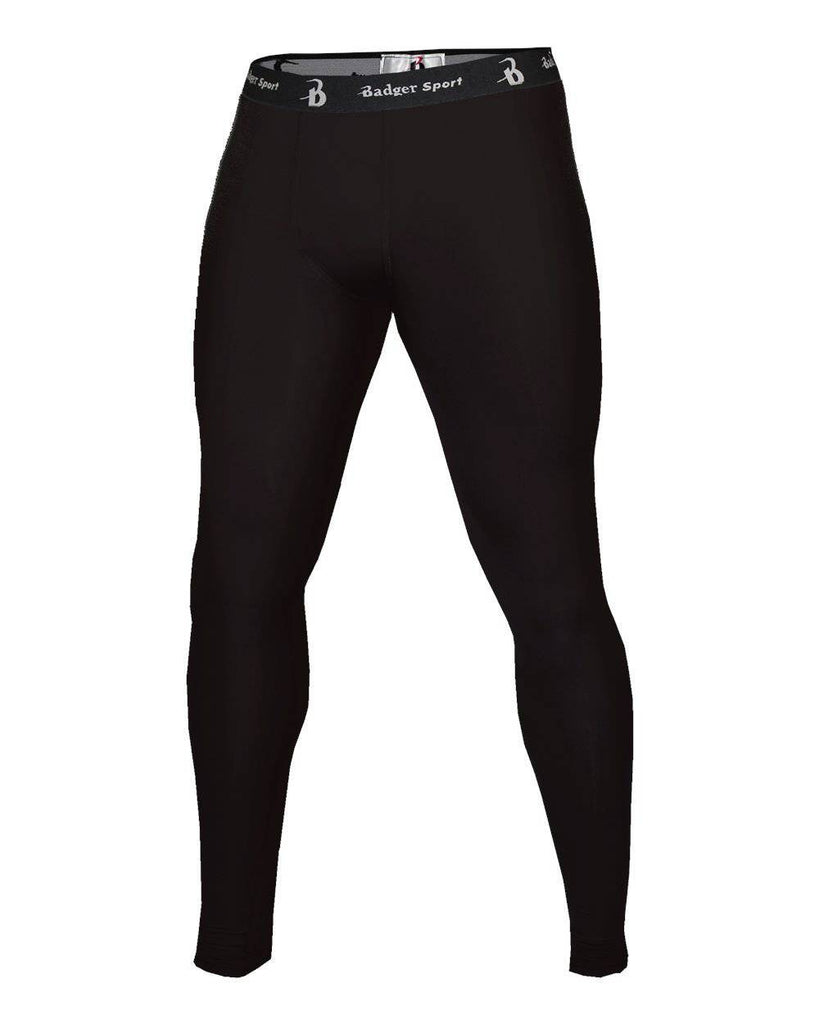 Badger 4610 Full Length Compression Tight - Black - HIT A Double