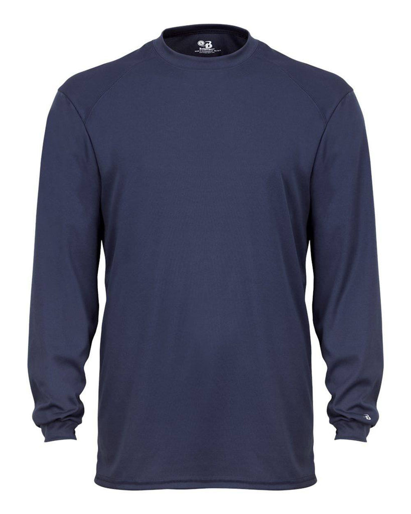 Badger 4804 B-Tech Long Sleeve Tee - Navy - HIT A Double
