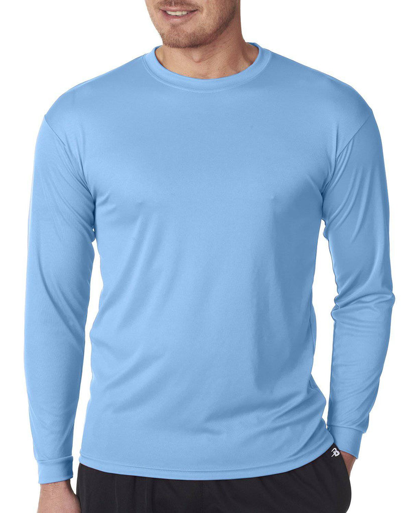 Badger 5104 C2 Long Sleeve Performance Tee - Columbia Blue - HIT A Double