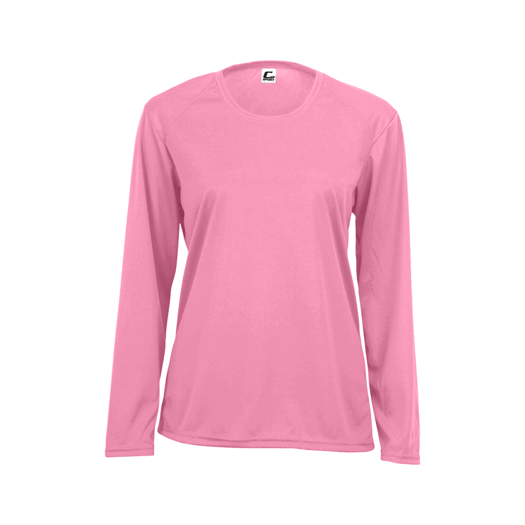 Badger 5104 C2 Long Sleeve Performance Tee - Pink - HIT A Double