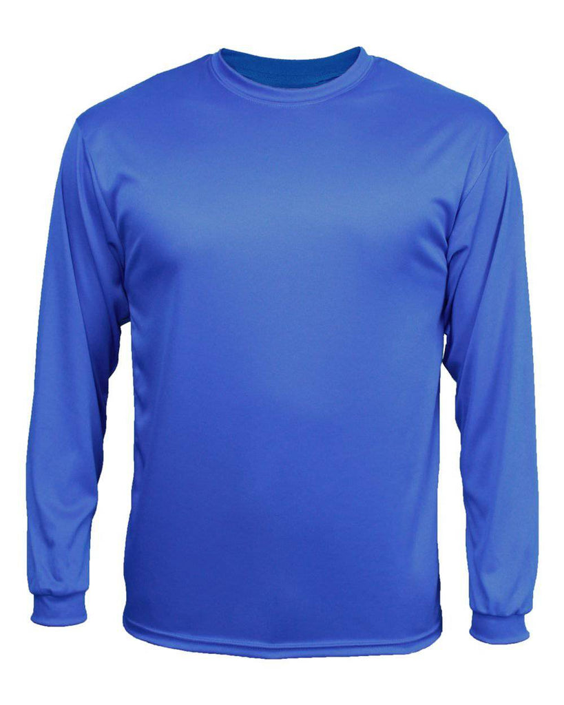 Badger 5204 C2 Long Sleeve Youth Tee - Royal - HIT A Double