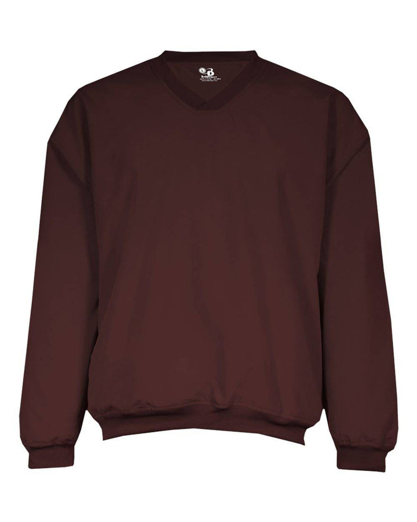 Badger 7618 Microfiber Windshirt - Maroon - HIT A Double