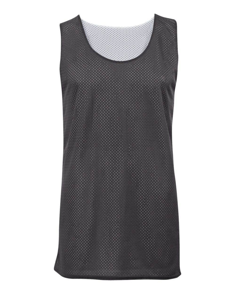Badger 8529 Mesh Reversible Tank - Dark Gray White - HIT A Double